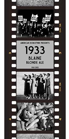 1933 Blaine Blonde Ale Beer Label Design