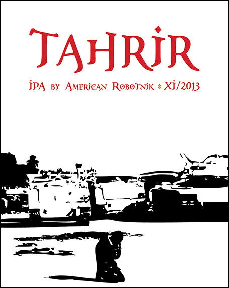 Resistance Series Beer Label Design - Tahrir