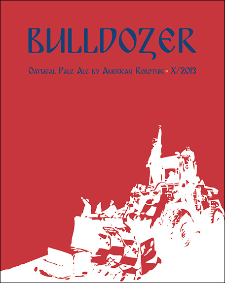 Resistance Series Beer Label Design - Bulldozer