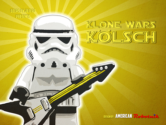 Klone Wars Kolsch Beer Label Design