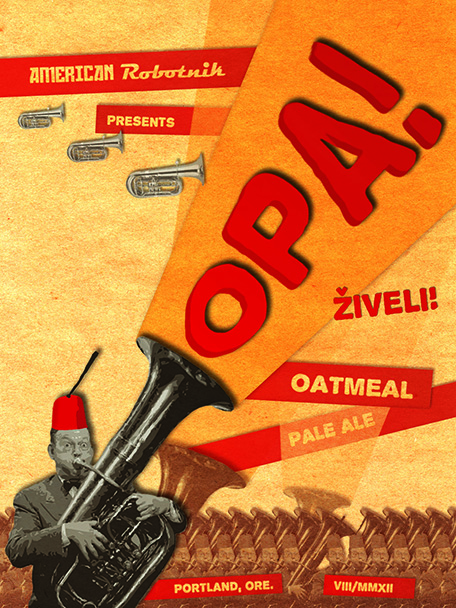 OPA Beer Label