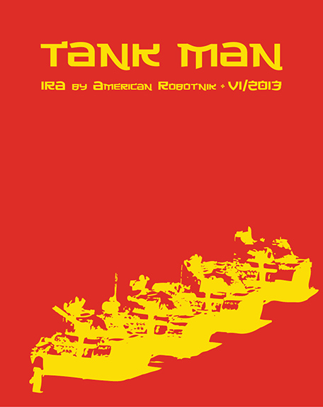 Resistance Series Beer Label Design - Tank Man